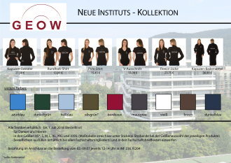 Neue Instituts-Kollektion